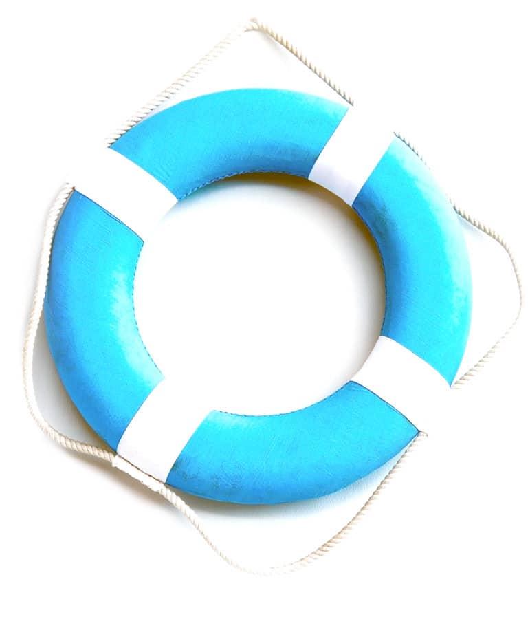 regali per futuri marinai - boa di salvataggio